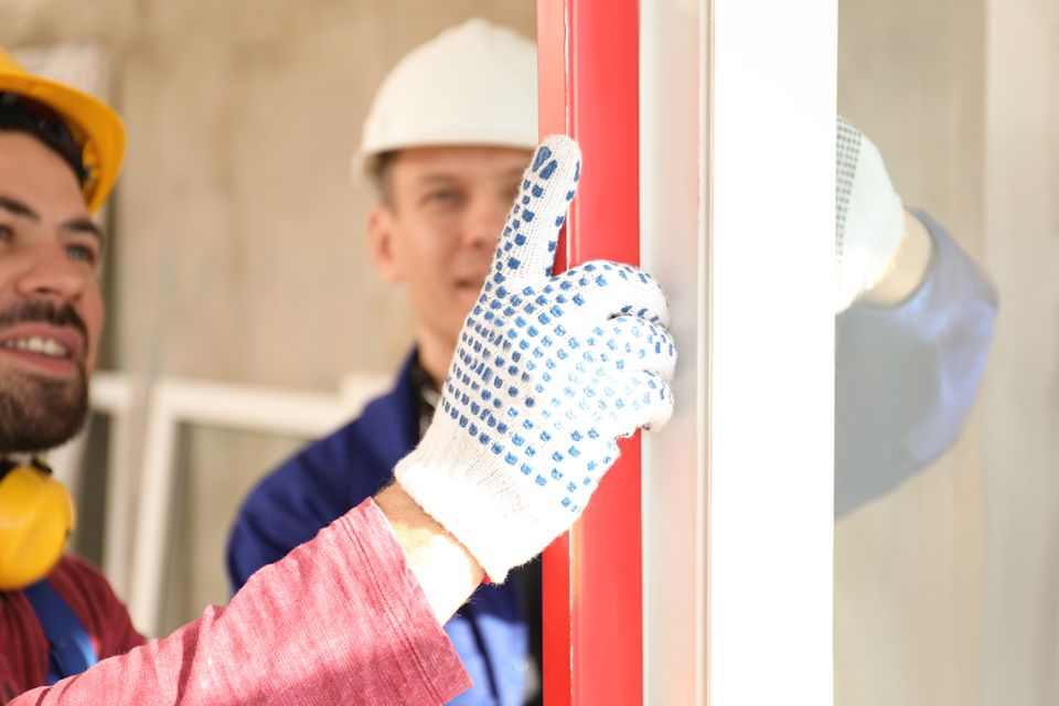 Men doing window install