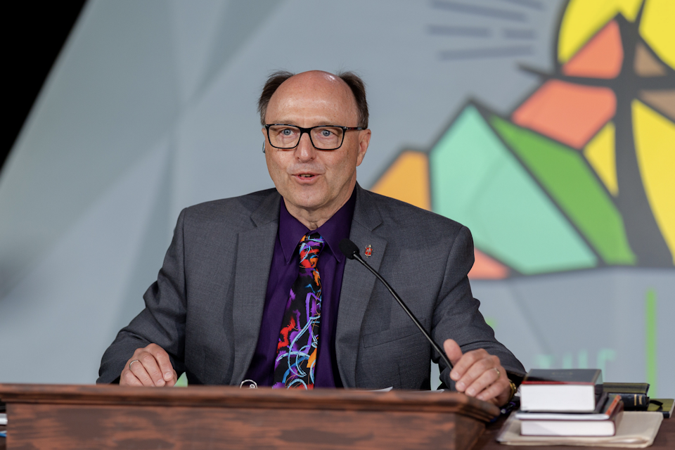 Bishop Bard presided over action Saturday resolutions