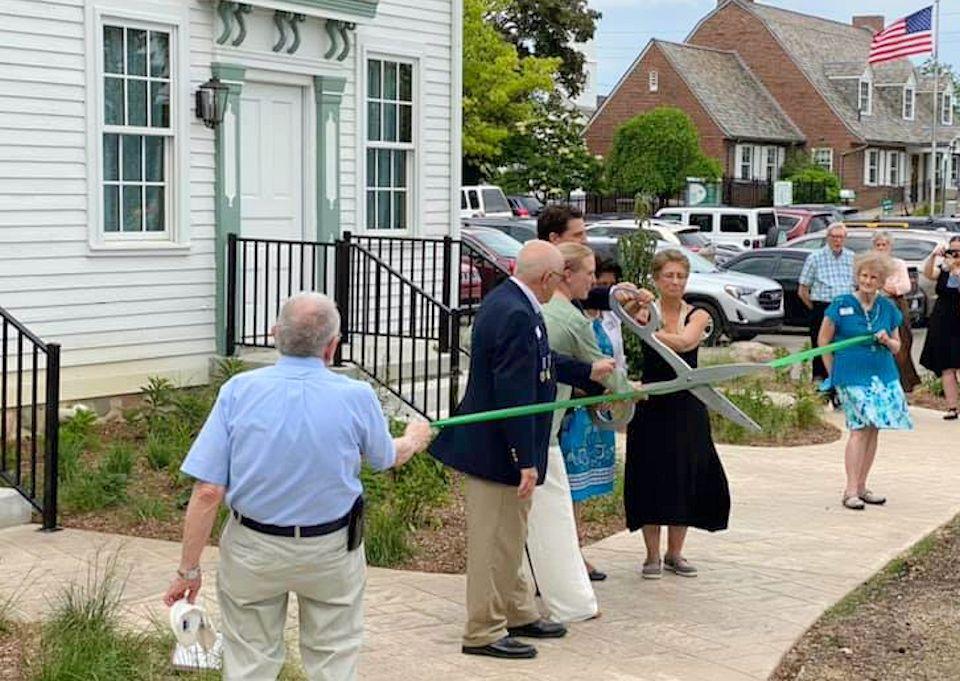 Ribbon cutting at Troy Historic Village