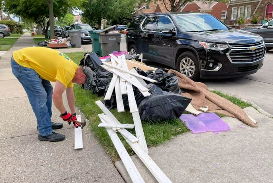 Flood clean-up in southeast Michigan