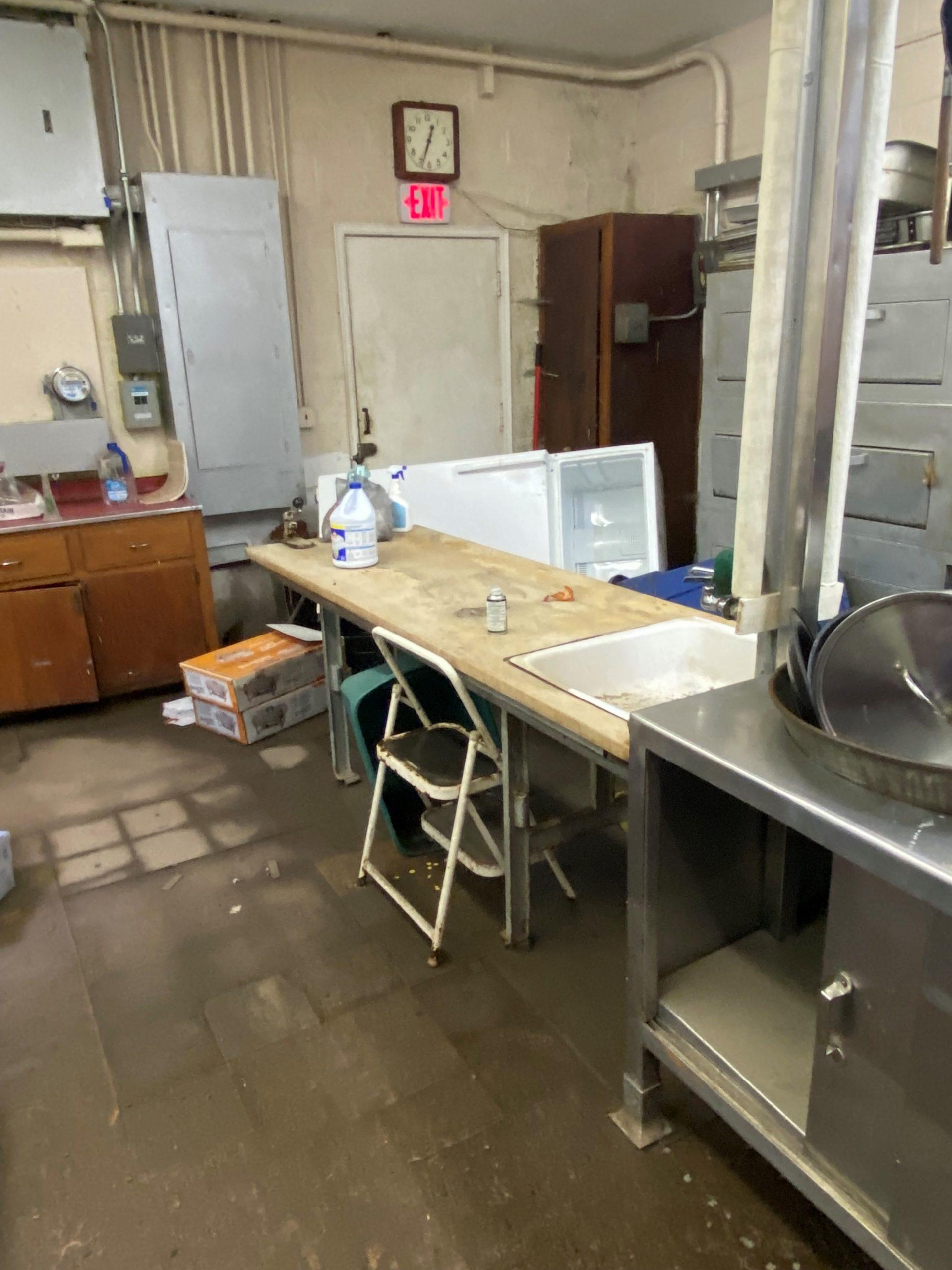 Flood in kitchen at Resurrection UMC