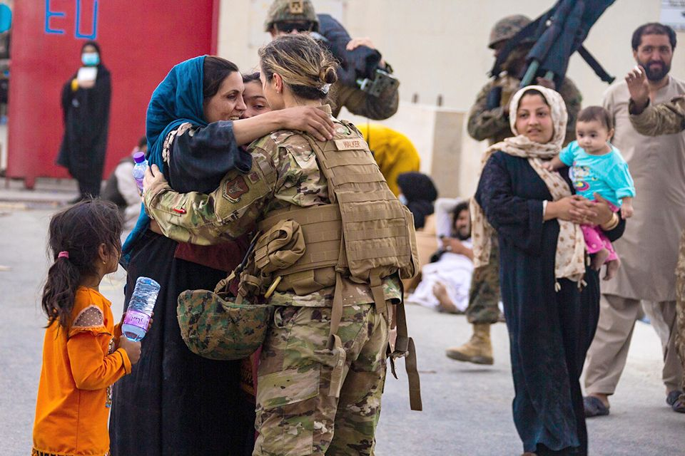 Afghan family flees country