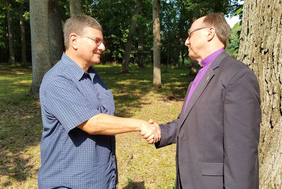 Bishop and Steve Winchester at Crystal Springs Camp