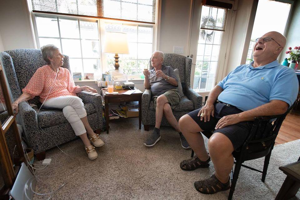 Widowers sharing grief