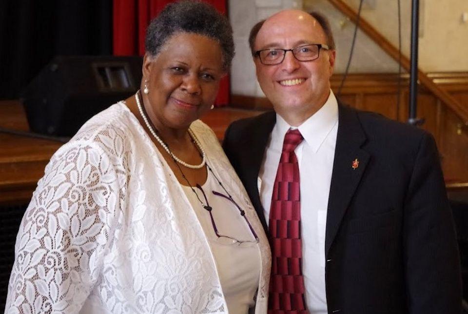 She welcomes Bishop Bard to Metropolitan