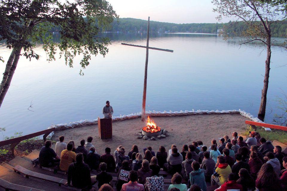 Fire Bowl at Lake Louise Camp